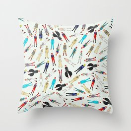 Floating Heroes Throw Pillow