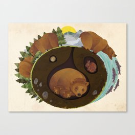 The Life Of A Grizzly Canvas Print