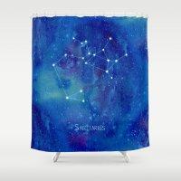 constellation Shower Curtains featuring Constellation Sagittarius  by ShaMiLa