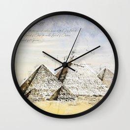 Pyramides of Giza, Cairo Egypt Wall Clock