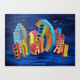 The Floating City Canvas Print