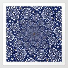 Bleu Gyre Royale Art Print