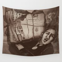 newspaper Wall Tapestries featuring Newspaper Boy by Marie-Pier Cadorette