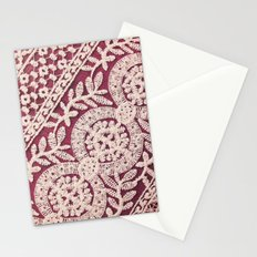 lace on red Stationery Cards