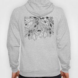 Elegant Black and White Flowers Design Hoody