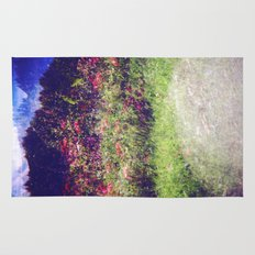 Flowers Plastic Camera Double Exposure Rug