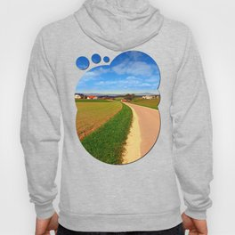 A road, a village and summer season | landscape photography Hoody