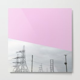 Pink Pylons Metal Print