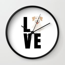 Love Labrador Retriever Cute Labrador Gift Idea Wall Clock