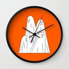 Boo! (Orange and White Edition) Wall Clock