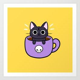 Happy Coffee Cat Kunstdrucke