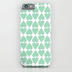 Diamond Hearts Repeat Mint Slim Case iPhone 6s