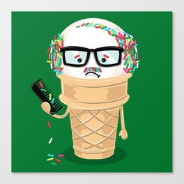Ice Cream Coneover (Holiday Edition) Canvas Print