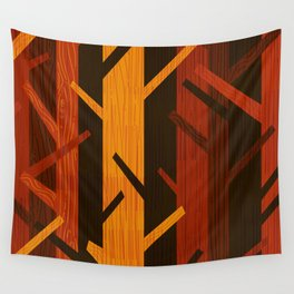 Retro Fall Woods by Friztin Wall Tapestry