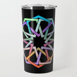 Geometric Art - Hexagon Rose Travel Mug