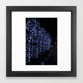 Christmas Blue Light Special Framed Art Print