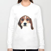 beagle Long Sleeve T-shirts featuring Beagle by Carmen Lai Graphics
