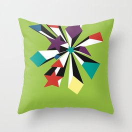 Starboy explosion green Throw Pillow