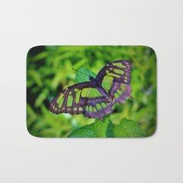 Green And Black Butterfly Bath Mat