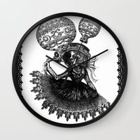 kobe Wall Clocks featuring Love Monochrome by AKIKO