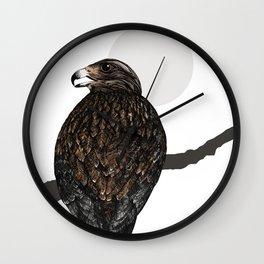 Art print: The buzzard on a branch Wall Clock