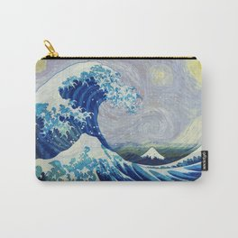 The Starry Night Wave Carry-All Pouch