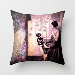 You Always Listen (conversations with dolls) Throw Pillow