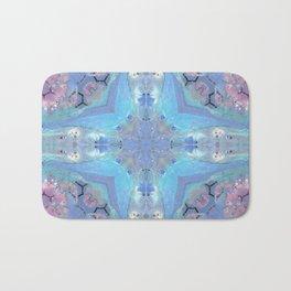 Blue Mixed Stone Abstact Design Bath Mat