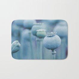 Poppy capsules blue style Bath Mat