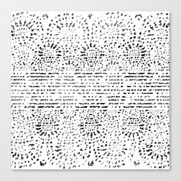 Lace Stamp Canvas Print