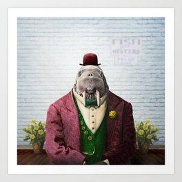 Portrait of Wendell Walrus Art Print