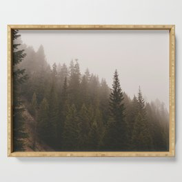 Elevation Drop - Foggy Forest PNW Serving Tray