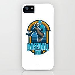 Baseball Dad Pitcher Softball Players Baseball Bat Hitters Baseballer Gift iPhone Case