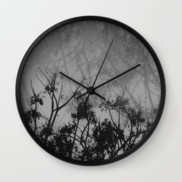 Branches in the Sky-Gray Wall Clock