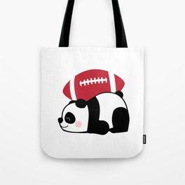 Panda Football Tote Bag