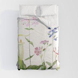 Botanical Garden Flower Wildflower Watercolor Art Comforters