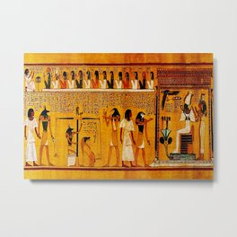 Book of the Dead - Last Judgement of Hu-Nefer - Thebes - Egypt - ca. 1290-1280 BCE - New Kingdom - Dynasty XIX - Ancient Egyptian Text with Spells, Prayers, and Incantations - Amazing Oil painting - Metal Print