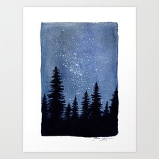 Starry Pines Art Print