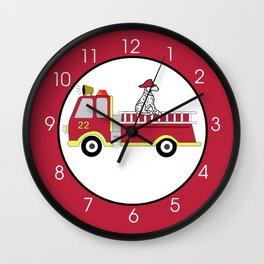 Firetruck Wall Clock Wall Clock