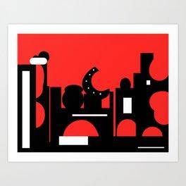 Red Bazaar Art Print
