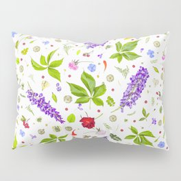Leaves and flowers pattern (33) Pillow Sham