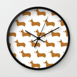 Corgis Wall Clock