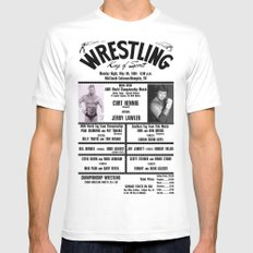 #13 Memphis Wrestling Window Card SMALL White Mens Fitted Tee