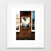 posters Framed Art Prints featuring Amsterdam Posters by Cristhian Arias-Romero