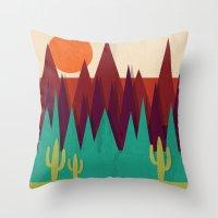 arizona Throw Pillows featuring Arizona by Kakel