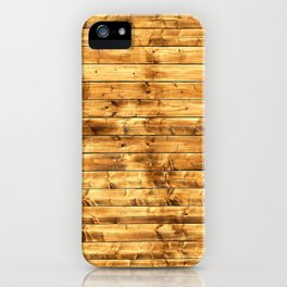 Grunge Rustic Wood pattern iPhone Case