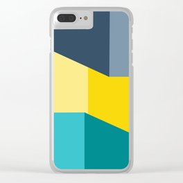 Almost Perfect- Simple Shapes Clear iPhone Case