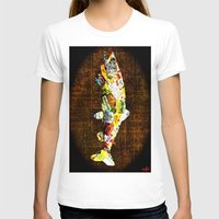 whisky T-shirts featuring FISH with a side of Bourbon Please by Saundra Myles