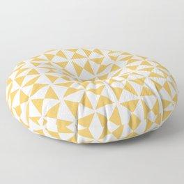Mustard yellow Mid century Floor Pillow