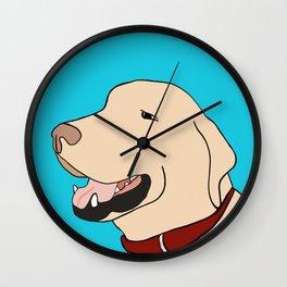 Sage A Yellow Labrador Wall Clock